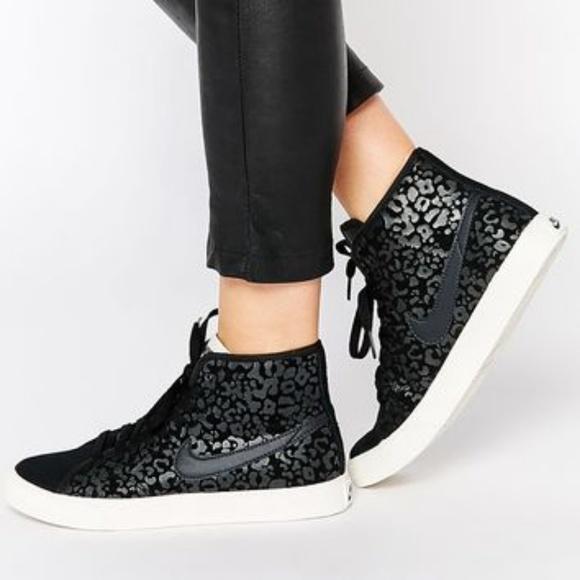 Nike Shoes | Nike Black Leopard Print